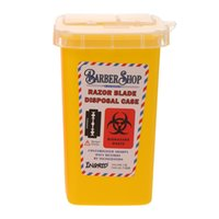 Draagbare 1L Sharps Container Medische Naalden Bin Biohazard Tattoo Piercing Naalden Barber Razor Blade Verwijdering Collect Box W11152