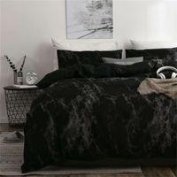Conjuntos de cama de luxo Sets Russo Euro Devet Cover único rei Rainha Tamanho da família Roupa de cama preta Set Bedclothes 200x200 201209