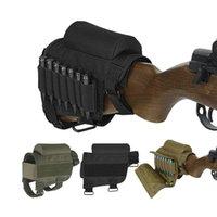 Butt tactique Stock Rifle Cheek Rest Pouch Riser Pad Shell Holder Bullet Munitions Cartouches Sac Répliques Accessoires Pochettes Mag