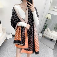 Luxury Letter Print Winter Scarfs For Ladies Designer Imitation Cashmere Scarf Women Oversized Shawl Wrap Scarves M2070
