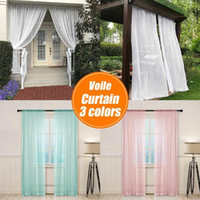 2. 7 2M Solid 3 colors White Tulle Sheer Window Curtains for ...