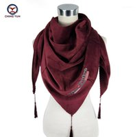 Ching yun nouveau triangle écharpes style style mode russe motif ethnique hiver foulard épaissir épaissir wrap wrap lady dame thawl1