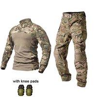 Uniforme tattica esterna Camicia di combattimento dell'esercito americano Abbigliamento Tatico Top multicam Camouflage caccia Pads pantaloni al ginocchio