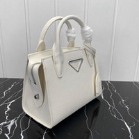 High quality Fashion women shoulder bags Unique triangle logo Genuine Leather Chest pack lady Tote handbags presbyopic purse messenger bag crossbody