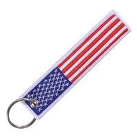 سلسلة المفاتيح العلم الولايات المتحدة للدراجات النارية دراجات سيارات والوطنية مع حلقة رئيسية العلم الأميركي هدية الهاتف الشريط حزب صالح RRA3761