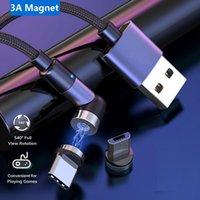 1m 2m Magnetkabel 3 Packung 540 Drehen Micro USB Typ C Kabel Magnetische Ladekabel für I11 Samsung Xiaomi Huawei Nur Ladegerät