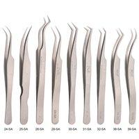 2021 Nowy 100% Oryginalny Vetus Pinezers 24-SA 25-SA 26-SA 29-SA 30-SA 31-SA 32-SA 38-SA 39-SA Pincety rzęs ze stali nierdzewnej do makijażu