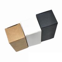 50pcs bianco nero marrone marrone carta kraft carta essenziale bottiglia di imballaggio box di imballaggio partito fai da te artigianato regalo cartone confezione scatola papercard al cioccolato imballaggio