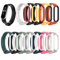 Für Xiaomi Mi 5 TPU Dual-Farben-Silikon-Smart-Armband-Armband-Band Ersatzband Miband 5 Smart-Bands Bügel-Uhrenarmband