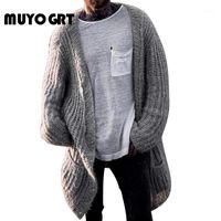 Pulls pour hommes Muyogrt Cardigan Cardigan Hommes De Style De Longue Manteau Surdimenseur 2021 Streetwear Pull Veste Casual Vêtements d'hiver1