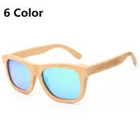 Lunettes de soleil à bois de haute qualité Summer Polarized Polarized Retro Bamboo Mens Sunglass Sunglass Lunettes Sun Gafas Oculos de Sol