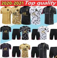 20 21 par Futbol Gömlek Hava Jordam Survetement Futbol 2020 Kısa Kollu Eğitim Giysileri Mbappe Icardi Kısa Kollu Eğitim Gömlek
