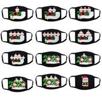 عيد الميلاد الناجي الغبار الأسود القطن قناع أقنعة الكبار الأزياء الوجه قابلة لإعادة الاستخدام قناع من القماش قابل للغسل تنفس مطبوعة تصميم الرسوم المتحركة