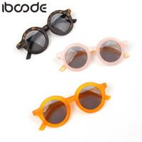 Iboode 2020 키즈 선글라스 그릴 사랑스러운 아기 태양 안경 어린이 안경 소년 oculos gafas de sol UV400 그늘 6 색
