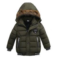 الخريف الشتاء طفل سترة الأولاد الأطفال ملابس الاطفال مقنعين معطف ملابس خارجية دافئة لصبي الملابس 2 3 4 5 سنوات Y200901