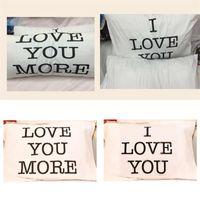 Rectángulo de almohada blanca Caso de San Valentín Día de San Valentín Te amo Cubiertas de almohadas de Romance 50 * 70 cm Letters Lover Sleeve de cojín 10XL G2