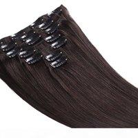 الصف 7a - كليب في الشعر التمديد 100٪ الشعر البشري بيرو الشعر 6 قطع موجة مستقيم كامل رئيس 180 جرام