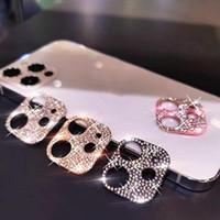럭셔리 다이아몬드 카메라 렌즈 풀 커버 화면 보호기 아이폰 12 11 Pro Max 용 강화 유리