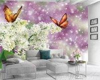3D Wallpaper Flower Wall Papers Home Decor Dreamy White Flowers Romantic Flora Decorative 3d Wallpaper Custom Photo Mural