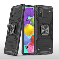 Armor case 360 Degree Rotating Metal Ring Holder Kickstand Shockproof Cover for Samsung Galaxy A51 A71 5G A81 A91 A01 A11 A21 A21S A31 A41