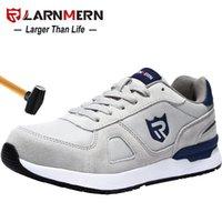 Ларнмерная мужская трудовая обувь защитная обувь стальной носил строительный кроссовка дышащая легкая антистатическая антистатическая нескользящая обувь 201223