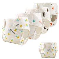 Pañales de tela Pañal de algodón bebé Reutilizable Lavable Nappy Funda impermeable Nacido bragas de traning Pocket1
