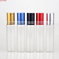 Beş renkli uçucu yağlar için 10ml metal rulo şişesi