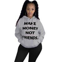 Faça o dinheiro não Amigos Womens capuz Inverno Hoodie Sueter Hoodie Sweater Jacket inverno quente Tops Casacos Roupa D102103