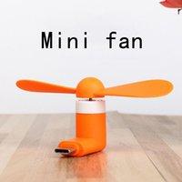 Großhandel Micro Tragbare USB Mini Fan Telefon Zubehör für Android Smartphone Zufällige Farbe DHL Freies Verschiffen