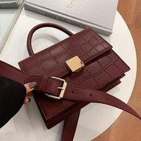 Crocodile pattern Square Tote bag 2021 New High quality PU Leather Women's Designer Handbag Vintage Shoulder Messenger Bag