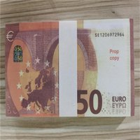 Creative American Style Simulación de venta caliente 50 EURO FAKE MONEY TOY MONEDA COLICITUD DE PELÍCULA DE PRÁCTICA PRÁCTICA BILANTE BAR GAME TOKEN