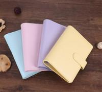 2021 PU notepad livro mágico bloco de notas A6 Escola bonito material de escritório macio caderno eco-friendly papel equipado multi cores notebook A14