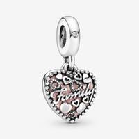 100 % 925 스털링 실버 사랑은 가족 심장 매달아 매력을 만듭니다. 유럽의 매력 팔찌 패션 쥬얼리 액세서리