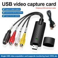 Vídeo USB 2.0 com Captura de Áudio Conversor PC Adaptador TV Áudio DVD DVR VHS