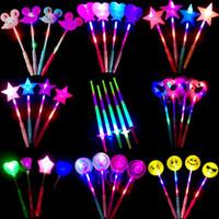Светодиодный проблесковый маячок Up Sticks Светящиеся Rose Star Волшебное Party Night концертная деятельность реквизит Детские игрушки украшения игрушки