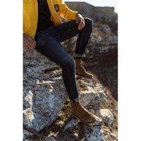 Simwood Winter Print Flece Inner джинсы мужчины теплые тонкие конусности джинсовые брюки высококачественные брюки плюс размер бренда 201111