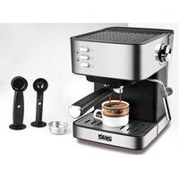 1.6L220V 전기 에스프레소 커피 머신 커피 그라인더 15 바 익스프레스 전기 폼 메이커 주방 어플 라이센스 1