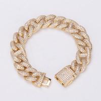American new micro zircon cuban bracelet necklace simple men women high end hip hop jewelry CZ Bracelet Bangle jewelry