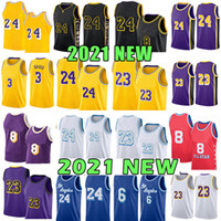 6 23 3 Anthony Kyle 0 Davis Kuzma Basketball Jersey 4 Alex Los Caruso Angeles Black 8 Trikots 2021 Neu