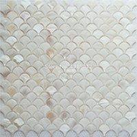 Ventilateur de tuile de mosaïque de la nacre pour la décoration de la maison Backsplash et tuile murale de salle de bain 1 mètre carré / lot al086