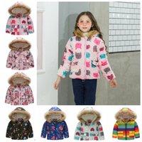 Baby Mädchen Mäntel Pelz Hoodie Kleinkindjacke Verdicken Bedruckte Kinder Junge Outwear Designer Kinder Kleidung 14 Designs Optional BT4380