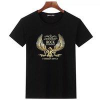 de los hombres nuevos PP diseñador de la camiseta de París de lujo camiseta de la manera del verano del punk diamantes de imitación camiseta del cráneo de alta calidad 100% algodón hip-hop T-Shir de los hombres