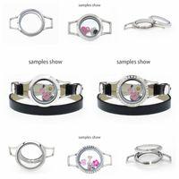 25mm / 30 millimetri di Bling cristallo di vetro vivere memoria Locket braccialetto acciaio inossidabile 316L medaglione misura i fascini di galleggiamento rendendo collana di avvolgere