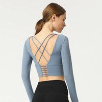 Yoga Outfits Ins Online Celebrity Athletic T-Shirt Schönheit Back Thin Kleidung Training Langarm Damen's1