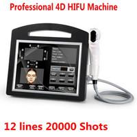 Profesyonel 3D 4D HIFU 12 satır 20000 çekim yüksek yoğunluklu odaklı ultrason hifu yüz kaldırma makinesi kırışıklık giderme vücut zayıflama DHL