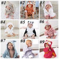 Bebê recém-nascido Bebê com capuz pijama animal Bathrobe dos desenhos animados toalha de bebê crianças banho moda robe infantil toddler toalhas de banho lls553