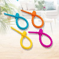 1200pcs Reusable Line Ring Cable Silicone Ties Fixing Self Locking Data Headset Zips Binder Wire Loop