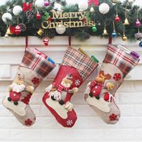 6 estilo del regalo de la bolsa de calcetines Christma decoraciones de dulces niños Calcetines de la Navidad Decoraciones para el hogar Parte festiva Suministros EW