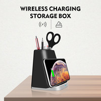 P8 10W QI Phone Wireless Charger Pen Pot Fast Charging Pad Stand For iPhone X XR XS Max 8 Samsung S8 S9 xiaomi