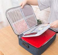 Grande capacidade impermeável bolsa de documentos organizador papéis de armazenamento bolsa de armazenamento saco de credencial arquivo de armazenamento de diploma p jllsge carshop2006